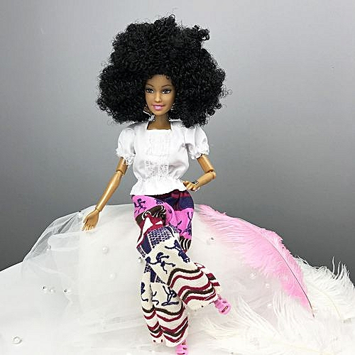 cfd9239f9a2b Fashion Braveayong Baby Movable Joint African Doll Toy Black Doll Best Gift  Toy -Pink