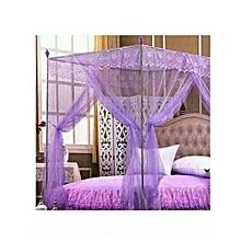 Mosquito Net with Metallic Stand - Purple