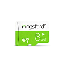 Mingsford Micro SD / TF Memory Card UHS - I Class 10 GREEN 8GB