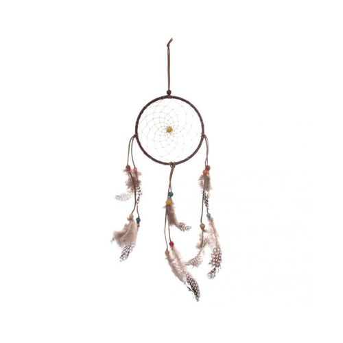 Magideal rainbow beads circle feather dream catcher home for Home decorations on jumia