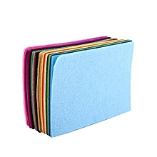40pcs Nonwoven Fabric Square Felt Sheet For Sewing Craft DIY 10*15cm