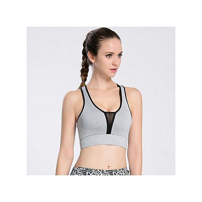 b2b97a4bd2 Sports Bras Mesh Fitness Women Yoga Top Sexy Push-up Sports Bra Yoga  Fitness Vest