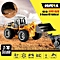 Remote Control Metal Bulldozer Toy, 2.4Ghz, 6 Channel, Scale 1:18, Construction Toy, 1520, HUINA - Deep Yellow Colour