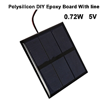 Solar Cell Solar Panel Charger Portable 0.72W 5V With Line Home Cellphone Solar Power Panel DIY Solar Systems