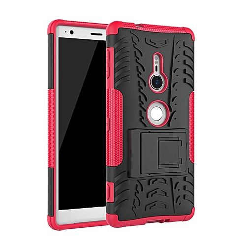 official photos d5be9 1b077 For Sony Xperia XZ2 Armor Heavy Duty Hybrid Stand Case For Sony Xperia XZ2  Daul Color Cover Defender 5.7inch