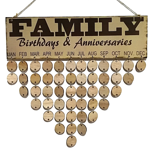 buy generic home decoration wooden birthday reminder board plaque