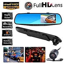 1080P Ultra wide angle Rear view mirror Driving recorder for Front and Rear BDZ