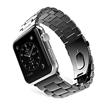 Replacement Stainless Steel Band Strap Bracelet For Apple Watch 38mm Black-Black