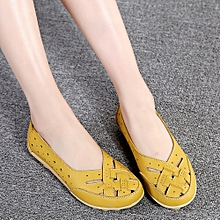 39ca4ee16bfee Fashion hiamok Women s Shoes Lady Flats Sandals Leather Ankle Casual  Slipper Soft Shoes