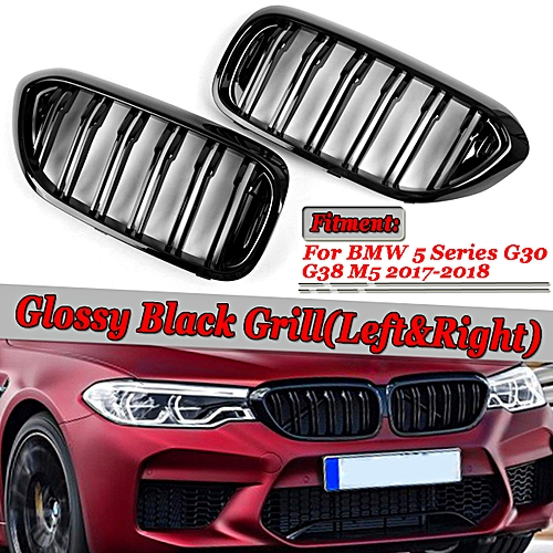 GLOSS BLACK KIDNEY GRILL FOR BMW G30 G31 G38 5 SERIES M5 FRONT GRILLE
