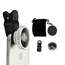 Selfie Cam Clip Lens, Detachable New Universal Super Wide 0.4x Angle Silver
