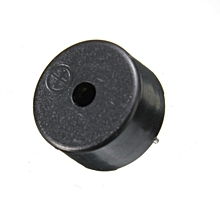 14 x 7mm 2 Pins Passive Electronic Piezoelectric Piezo Buzzer DC 1-30V Black