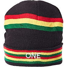 Imperial Beanie & Bobble Hat For Men_Striped Red/Black/Yellow/Green