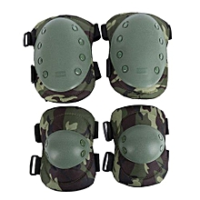 Knee Pads Protective Gear Professional 4pcs/Set Adjustable Riding Skating Elbow Protector Sport Outdoor