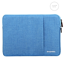 11 inch Sleeve Case Zipper Briefcase Carrying Bag(Blue)