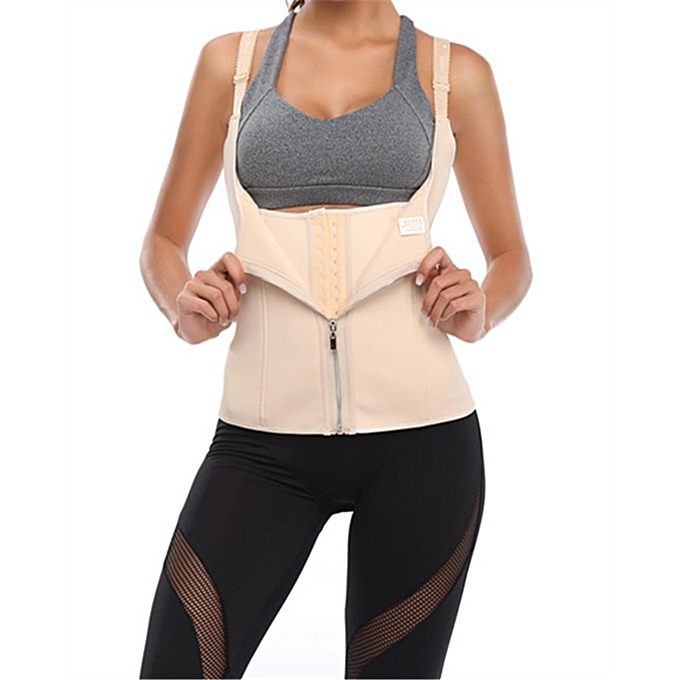 a29bed9ed2165 Waist Trainer Corset Weight Loss Womens Workout Sweat Vest Slimming  Shaper-Beige