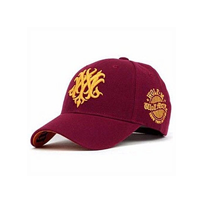 Men Women Embroidery Baseball Bboy Golf Cap Snapback Hiphop Visor Sport  Flat Hat Red e52d8b2ce784