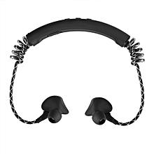 Neck type Wireless Sports Bluetooth Headset Flexible Neckband Earphones-Black