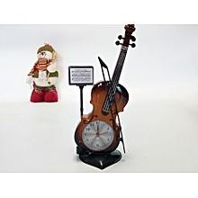 Electrical alarm clock cute violin Office home desk bedroom clock