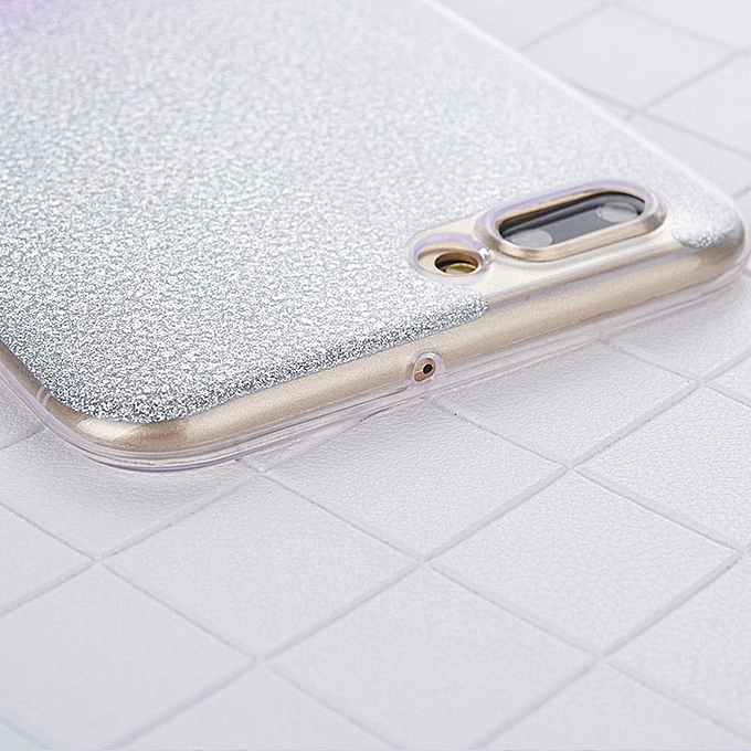 Glitter Gradient Soft TPU Back Cover For Oppo A71 2018 Clear Phone Cases  (Gold)