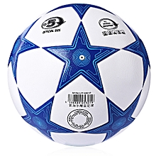 Size 5 Star TPU Anti-slip Competition Soccer Ball Football-BLUE AND WHITE