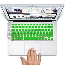 "13"" Air Skin, EURO Type Italian Silicone Keyboard Cover For 2008-2015 Macbook 13.3"" 15"" Pro Reitna/Imac G6, Green"