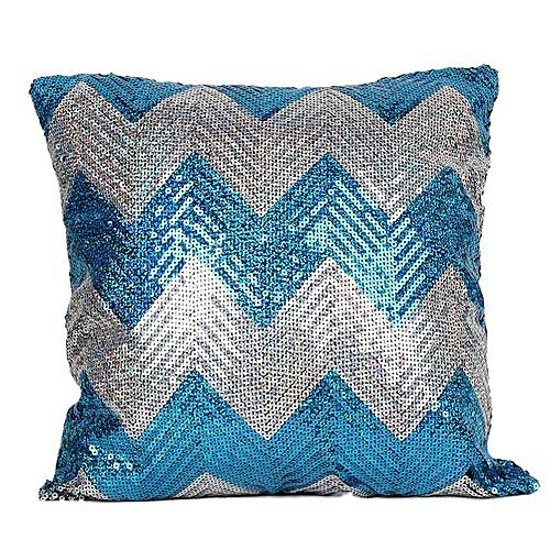 Generic Double Color Glitter Sequins Throw Pillow Case Cafe Home