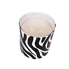 African Art scented candle: Zebra Print