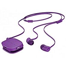 H5000 Bluetooth Earphones with Inbuilt Microphone - Purple