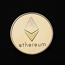 Gold Plated Ethereum Eth Coin Rig Miner Collectible Commemorative Iron Coin Gift