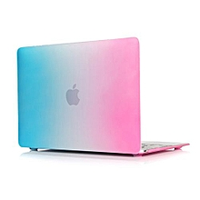 """For 12"""" Macbook Case, Rainbow Hard Rubberized Cover For A1534 Macbook 12 Inch, Blue/Pink"""