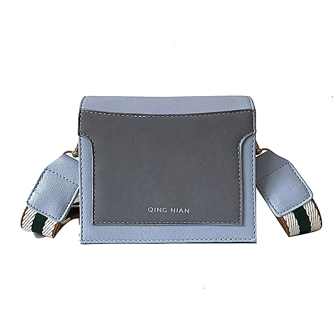 3ad1248ca9c5 ... koaisd Women Small Square Bag Simple Crossbody Bag Wide Shoulder Strap  Bag ...