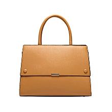 Khaki Structured Handbag