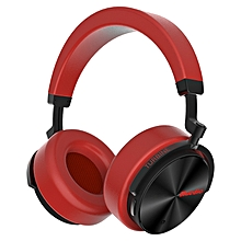 Bluedio T5 Active Noise Cancelling Wireless Bluetooth Headphone Portable Headset with Microphone RED