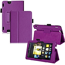 Leather Folio Stand Cover Case For Amazon Kindle Fire HDX 7 Inch Purple