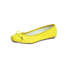 Yellow Ladies Doll Shoes