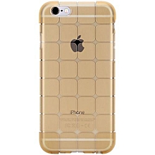 """Rock Crystal Clear Transparent Soft Silicon 0.3mm TPU Case For IPhone 6 / 6s 4.7"""" Inch Phone Cases Accessories(Gold)"""