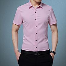 Men's New Style Fashion Shirts Korea Casual Slim Fit Shirts Easy-care Shirts.H5-1-6
