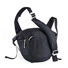 8L Unisex Outdoor Messenger Bag Multifunctional Waterproof Bag(Black)
