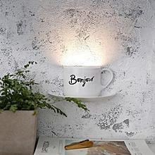 USB Charging Voice Sensor Novelty Night Light Bedside Decor - White
