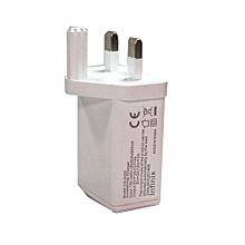 USB 3 Pin Charger - White
