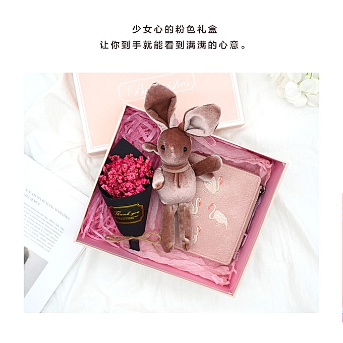 【Flamingo wallet gift box without lamp】Tanabata Valentine's Day to send a girlfriend romantic