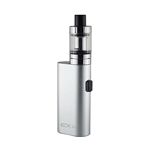 Electronic Cigarette ex 50 Box Mod kit Vape pen 2000mAh 50W E-Cigarette  kits 2ml Atomizer Tank Vaporizer Vapor kit (Silver)