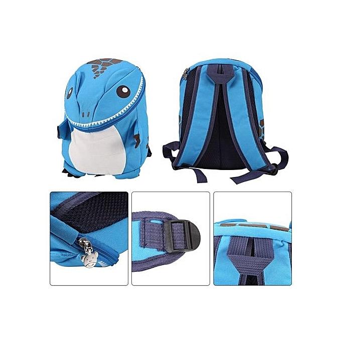 04270a9af1c5 ... 3D Dinosaur Backpack For Boys Children Backpacks Kids Kindergarten  Small SchoolBag Blue