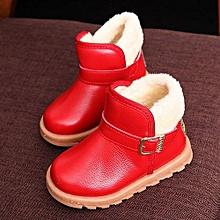 bluerdream-New Autumn Winter Keep Warm Fashion Children Thickening Boys Girls Snow Boots - Red