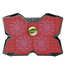 KOBWA Laptop Cooler Cooling Pad Stand Ultra-quiet Gaming Notebook Cooler For 15.6-17 Inch Laptops With 1200 RPM 4 Fans, Dual USB Port And Multi Tilt Angle Option.(red)