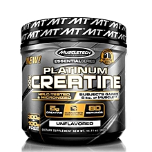 Platinum 100% Creatine, Ultra-Pure Micronized Creatine Powder, Unflavored - 400g