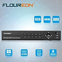 8CH 1080P 1080N HDMI H.264 CCTV Security Video Recorder Cloud DVR EU Plug - BLACK