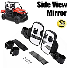 Rear Reversing Side View Mirror Set High Impact Break-Away For UTV/ATV Offroad