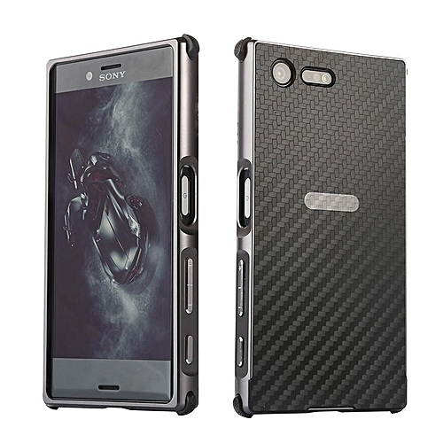 best website d5d77 76b57 Luxury Metal Case For Sony Xperia X Compact F5321Aluminum Frame & Carbon  Fiber Back Cover Shockproof Shell Capa Mobile Accessories Phone Cases  (Black)